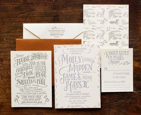 wedding invitations south auckland molly s cozy woodland toile wedding invitations