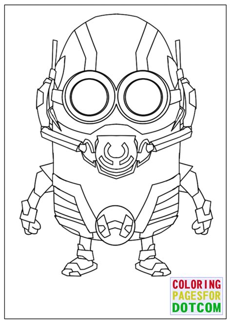 lego minions coloring pages minion ant man mode coloring pages coloring pages for