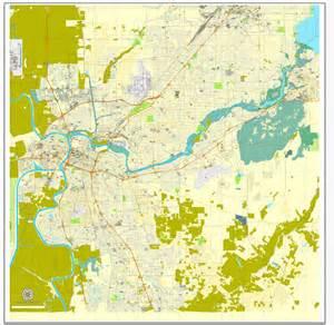 sacramento california us printable vector map