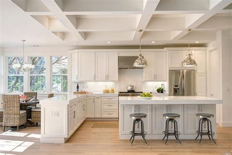 white kitchen island with breakfast bar 25 beautiful transitional kitchen designs pictures