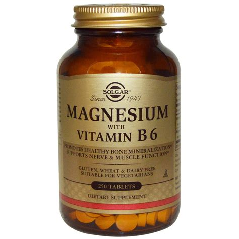 supplement b 6 solgar magnesium with vitamin b6 250 tablets iherb