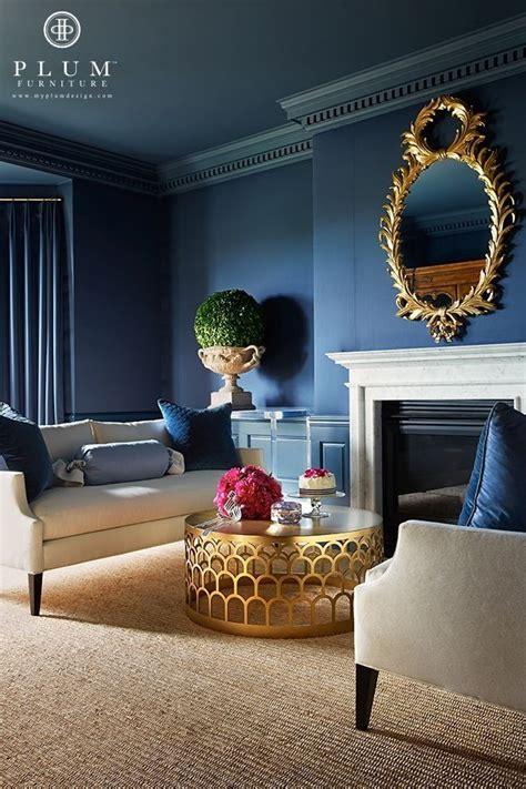dark blue paint living room niebieski salon jak urzadzic go nowoczesnie i stylowo