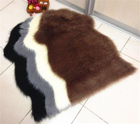 Karpet Bulu Merk Aloha 2016 shaggy karpet hewan mewah faux bulu karpet kulit