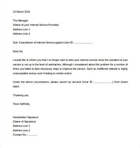 service termination letter templates sample