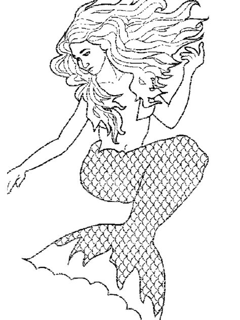mermaid coloring page free printable mermaid coloring pages for