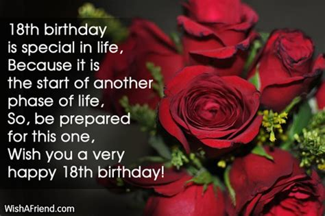 Birthday Quotes For 18 Year Niece 18th Birthday Wishes