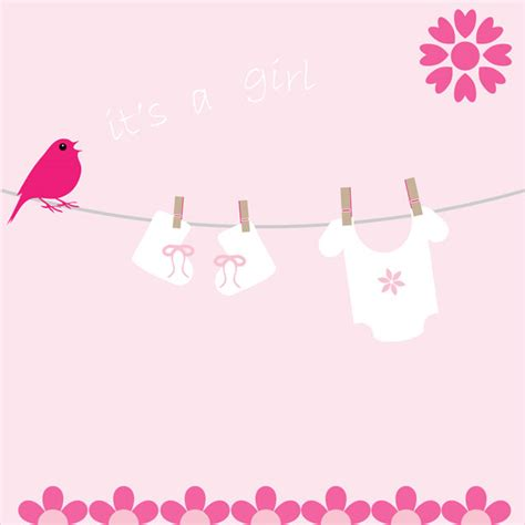 baby girl card announcement free stock photo public