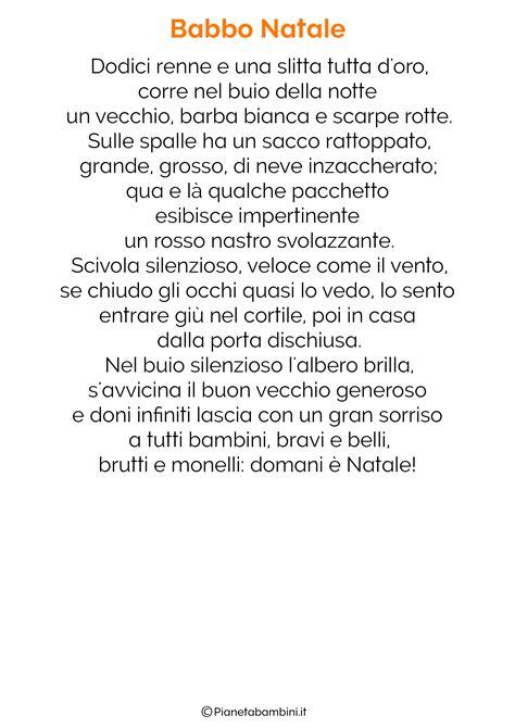 babbo natale esiste testo poesie babbo natale per bambini ipasvialessandria