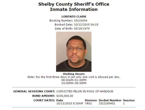 Shelby County Records Image Gallery Arrest