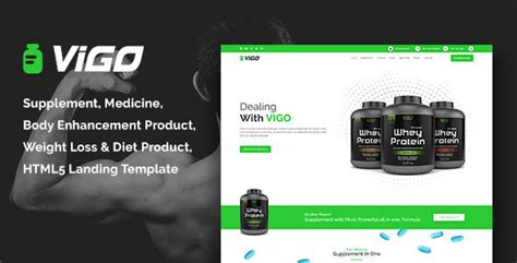 Vigo Health Supplement Landing Page Html Template Nulled Download Supplement Website Template