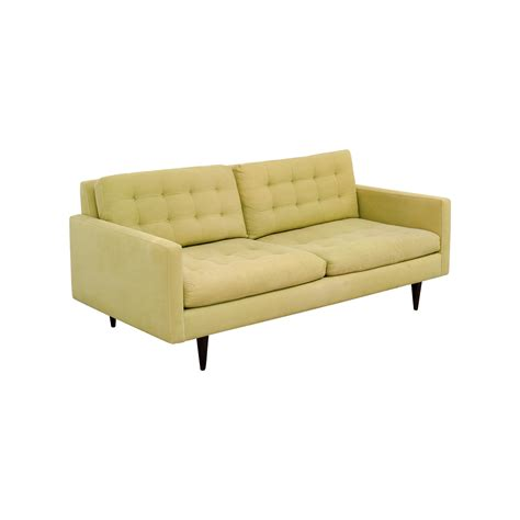 crate barrel petrie sofa 77 off crate barrel crate barrel petrie pale green