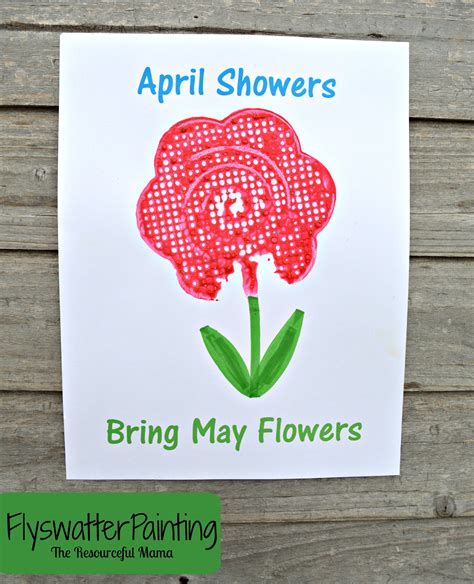 April Showers Bring by Flyswatter Painting April Showers Bring May Flowers Free
