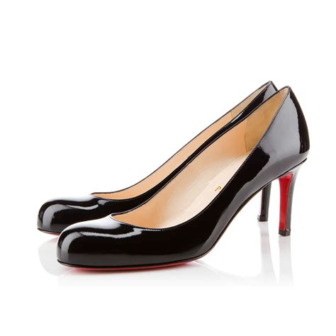 Shoes Christian Louboutin Po188 simple patent 70 black patent calfskin shoes