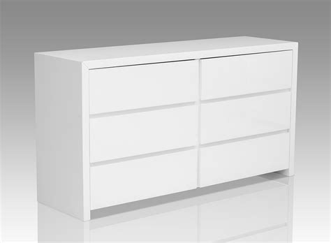 bonita modern white high gloss 6 drawer dresser ebay