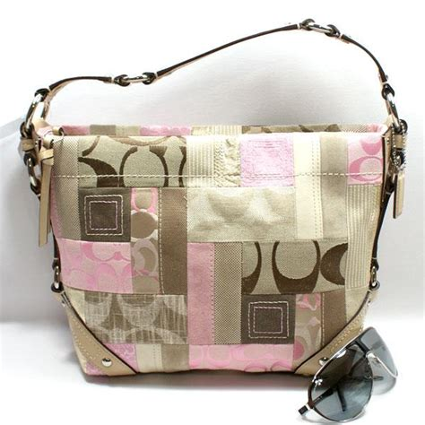 Pink Patchwork Coach Purse - coach signature patchwork bag 13720 coach 13720