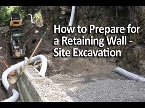 How To Prepare For An How To Prepare For A Retaining Wall Site Excavation