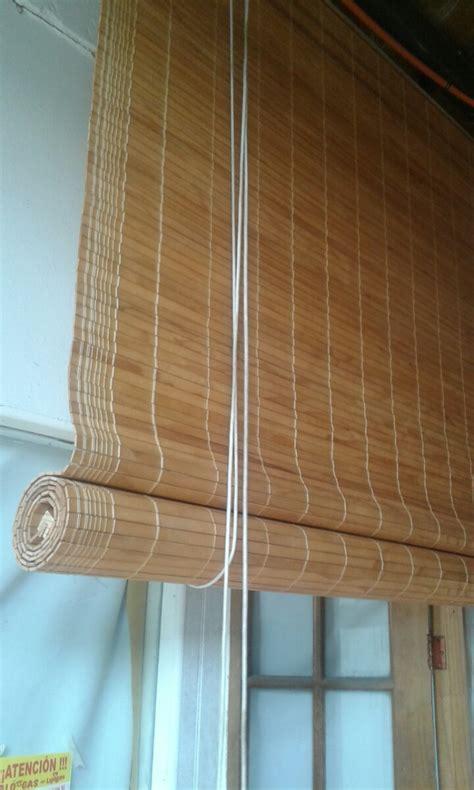 cortina de madera cortinas de rollo en madera 14 500 en mercado libre