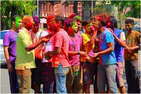celebrate color holi