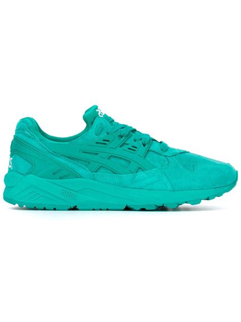 asics sneakers mens asics gel kayano sneakers in green for lyst