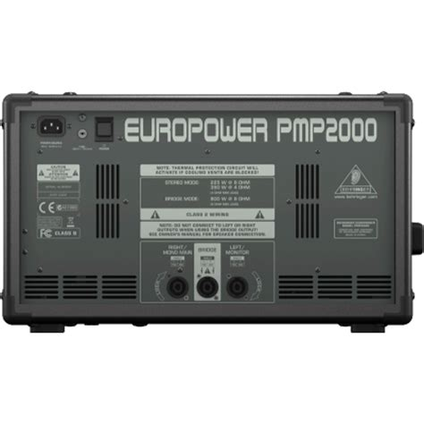 behringer europower pmp2000 powered mixer behringer europower pmp2000 powered mixer