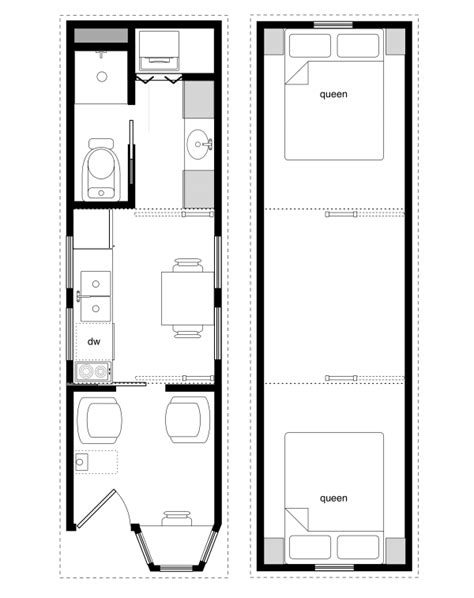 tiny house trailer floor plans sle floor plans for the 8x28 coastal cottage tiny house design