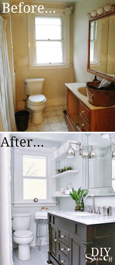 small bathroom makeovers before and after tiny bath makeovers decorating your small space