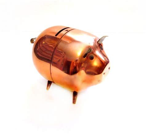 steel piggy bank piggy bank copper metal pig bank pig bank