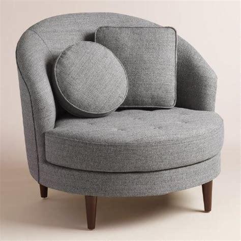 round armchair gray round seren chair and a half world market