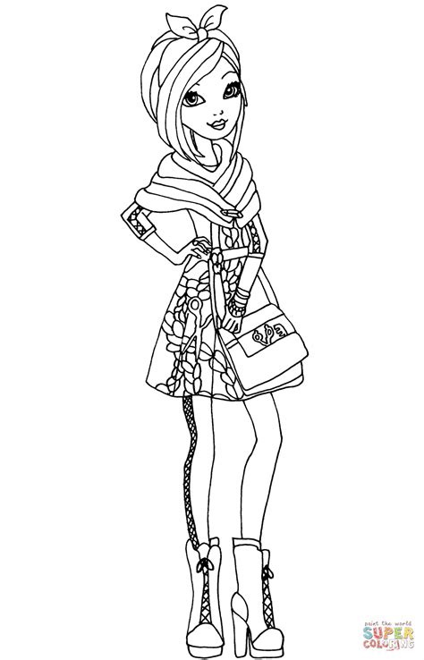 Ever After High Coloring Pages Poppy O Hair | coloriage ever after high raven queen coloriages 224