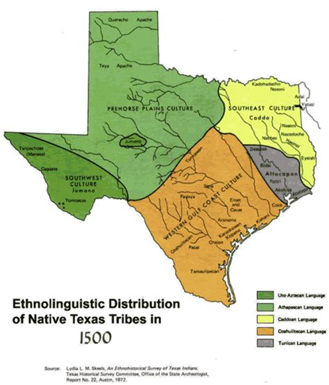 indian reservations texas map indian tribes of texas map