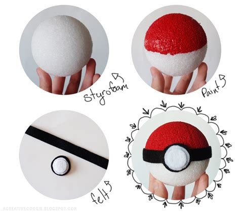 How To Make Pokeballs Out Of Paper - a creative cookie diy pokeball