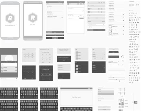 wireframe templates for android android vector wireframing toolkit