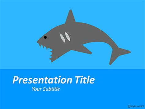 shark powerpoint template free angry powerpoint templates myfreeppt