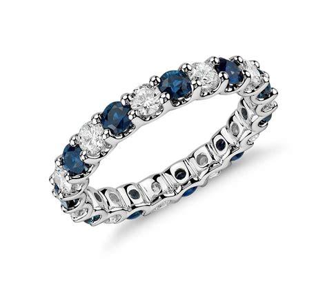 luna sapphire  diamond eternity ring  platinum  ct