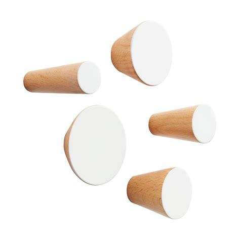three by three hob knob solid wood wall pegs the