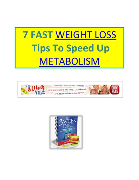 7 weight loss tips 7 fast weight loss tips pdf authorstream