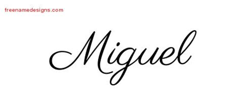miguel archives free name designs