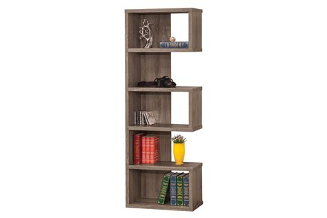 weathered grey semi backless bookcase 800552 at gardner white