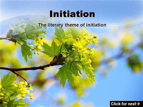 initiation theme in literature definition initiation theme authorstream