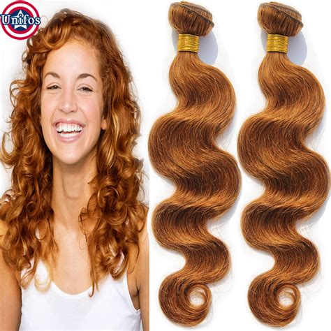 hair fir mid 30s peruvian body wave virgin hair colour 30 medium auburn