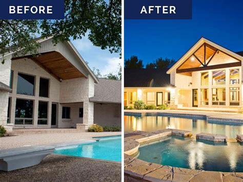 before and after custom home renovations