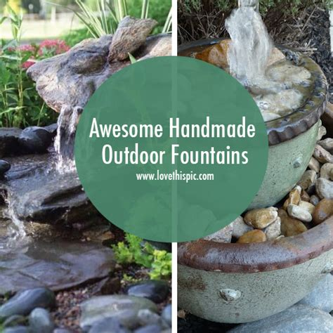 Handmade Fountains - awesome handmade outdoor fountains