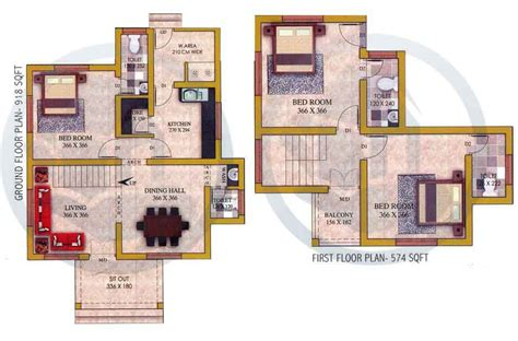 1492 SQ FT, 3BHK, DOUBLE FLOOR HOME DESIGN