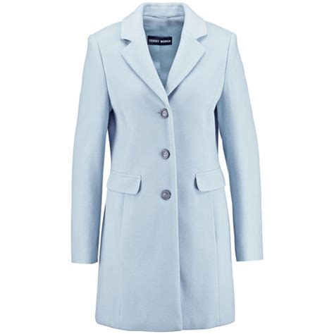 light blue wool coat gerry weber light blue wool coat