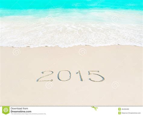 new years 2015 vacation time happy new year 2015 season concept on azure tropical