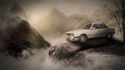 wallpaper classic full hd old bmw with sky full hd by wswsart on deviantart