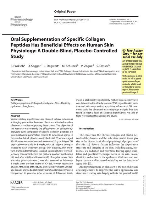 a placebo controlled trial of oral fingolimod in relapsing oral supplementation of specific collagen peptides has