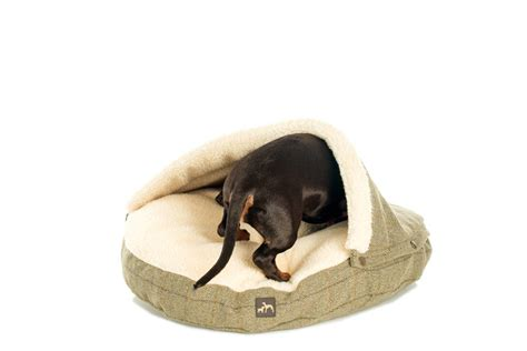 pet cave bed tweed cave dog bed by country and twee