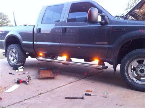 truck running board lights amber led running board lights during the install