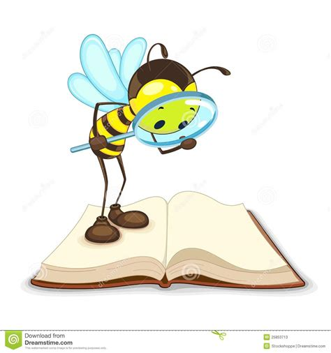 What Are Searching For On Bee Searching With Magnifying Glass Stock Photos Image